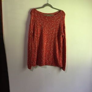Abercrombie&Fitch red-orange long sleeve sweater